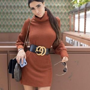 Bronze rust dress